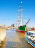 Историческое парусное судно Rickmer Rickmers в Гамбурге, Германии Стоковое Фото