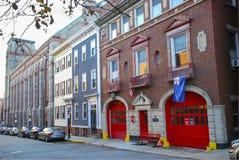 Историческое пожарное депо отделения пожарной охраны Бостона Стоковая Фотография