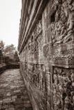 Историческое резное изображение камня буддийского виска стоковая фотография rf
