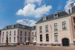 Историческое розовое строя Hofkelder в центре Leeuwarden Стоковое фото RF