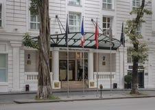Историческое сказание Metropole Sofitel, пятизвездочный роскошный отель раскрыло в 1901, Ханой, Вьетнам стоковое изображение