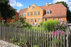 Историческое Christiansfeld в Ютландии, Дании Стоковые Фото