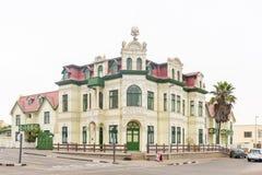 Историческое Hohenzollernhaus, построенное 1904 до 1906, в Swakopmund Стоковая Фотография