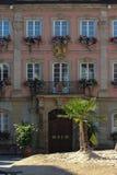 историческое schwaebisch города gmuned орнаменты и фасады деталей Стоковые Фото
