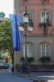 историческое schwaebisch города gmuned орнаменты и фасады деталей Стоковые Изображения RF
