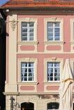 историческое schwaebisch города gmuned орнаменты и фасады деталей Стоковое Фото