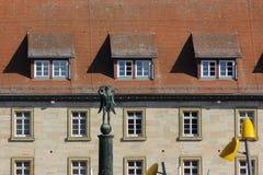 историческое schwaebisch города gmuned орнаменты и фасады деталей Стоковые Фотографии RF
