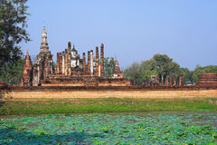 историческое sukhothai парка Стоковая Фотография RF