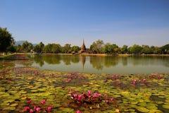 историческое sukhothai Таиланд парка Стоковое фото RF