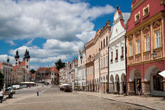 Историческое  TelÄ городка ЮНЕСКО Стоковое Фото