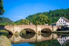 Историческое Waldhornbridge в Sulz на Неккаре стоковое фото