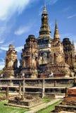 историческое wat sukhothai парка mahathat стоковое изображение