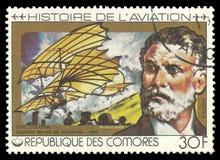 История авиации, Оттон Lilienthal Стоковые Изображения