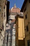 История и культура искусства в флорентийских церков - Флоренсе - Ital Стоковая Фотография