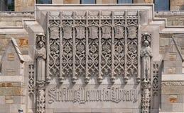 История Йельского университета стоковые фотографии rf