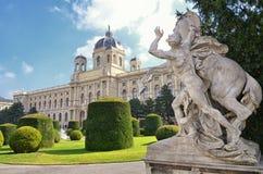 История музея изобразительных искусств в вене, Австрии Стоковая Фотография
