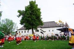 История праздненств в Кремле Рязани Стоковая Фотография RF