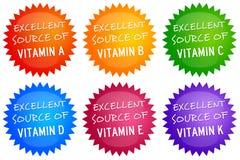 Источники витамина Стоковые Фото