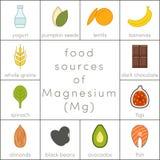 Источники еды магния иллюстрация штока