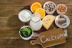 Источники еды самого лучшего кальция богатые еда здоровая Стоковые Изображения