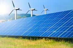 источники способные к возрождению энергии Стоковые Фото