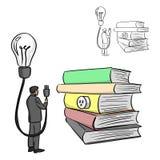 Источник идеи от руки doodle эскиза иллюстрации вектора книг Стоковые Фотографии RF