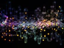 Источник потока информации Стоковые Изображения