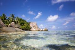 Источник пляжа d'Argent Стоковое Изображение RF