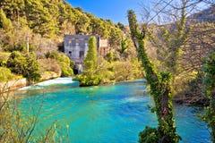 Источник реки Jadro около взгляда Solin Стоковые Изображения