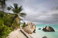 источник Сейшельских островов la digue anse argent d Стоковые Фото