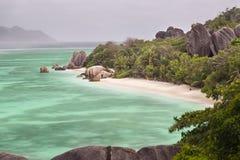 источник Сейшельских островов la digue anse argent d Стоковое фото RF