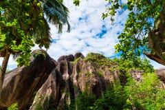 Источник d'argent, остров Anse Digue Ла Сейшельские островы Стоковые Фотографии RF