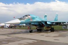 Истребитель-бомбардировщик Su-34 на кодификации НАТО: Защитник на Стоковое Изображение RF