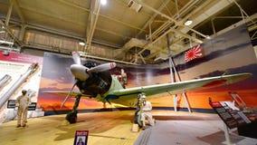 Истребительная авиация Мицубиси Z6M нул японца на дисплее на музее авиации Habor жемчуга Тихом океан Стоковые Фотографии RF