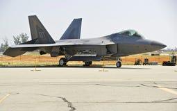 Истребительная авиация хищника Lockheed Martin F-22 тактическая Стоковые Фотографии RF