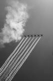 Истребительная эскадрилья на параде в Москве Стоковые Фотографии RF