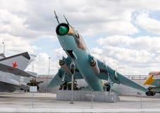 Истребитель-бомбардировщик Su-17 Pyshma, Екатеринбург, Россия - 16-ое августа, Стоковые Изображения