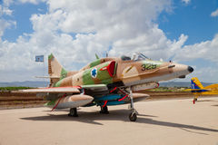 Истребитель F-16 при израильская звезда покрашенная на борту Стоковое Фото