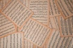 листы мюзикл нот гитары архива предпосылок хорошие Стоковые Фотографии RF