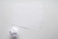 листы пустой бумаги стоковые фотографии rf