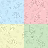 листья делают по образцу безшовное Стоковые Фотографии RF