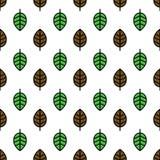 листья делают по образцу безшовное Стоковая Фотография