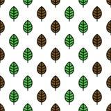 листья делают по образцу безшовное Стоковая Фотография RF