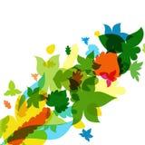 листья листьев рамки абстрактной предпосылки осени цветастые также вектор иллюстрации притяжки corel бесплатная иллюстрация