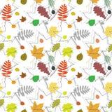 листья осени делают по образцу безшовное Стоковая Фотография RF