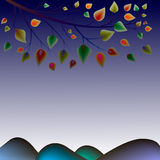 листья осени цветастые Стоковая Фотография RF