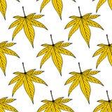 листья покрашенные предпосылкой покрасьте вектор возможных вариантов картины различный картина листьев безшовная Стоковая Фотография