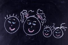 листья семьи детей осени Стоковая Фотография