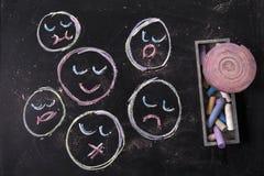 листья семьи детей осени Стоковые Изображения RF