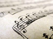 лист нот старый Стоковое фото RF